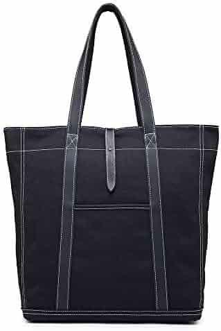 1a4f82ac8d YWX Handbag Unisex Canvas Bag Simple Cloth Bag Casual Retro Men s Shoulder  Bag Fashion Women s Fashion