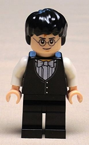 NEW Lego Harry Potter Minifig w/ Yule Ball Vest and Bow Tie FROM - Harry Potter Yule Ball