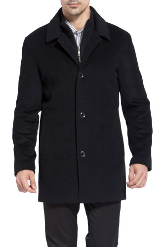 - MODERM Men's 'Justin' Cashmere Blend Car Coat - XL Black