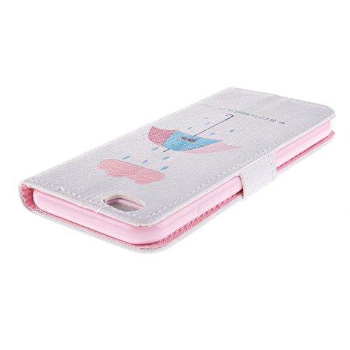 "MOONCASE iPhone 6 Case Magnetverschluss [Painted Patterns] Leder Tasche Flip Case Cover Schutzhülle Etui Hülle Schale für iPhone 6 (4.7"") -LK08"