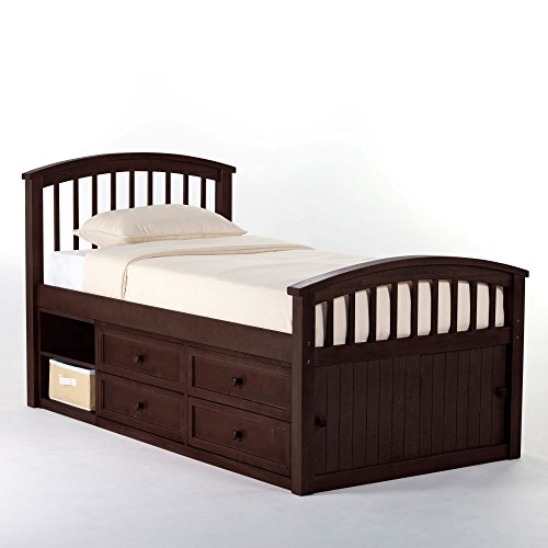 Hillsdale Furniture 5070N Hillsdale Kids and Teen School House Storage Twin Captain Bed Chocolate ()