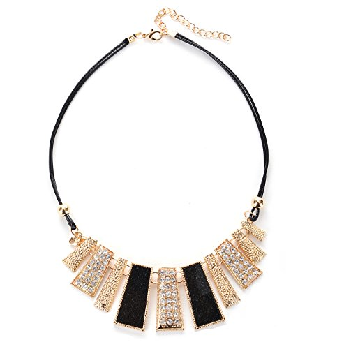 HolyFast Retro Irregular Geometric Choker Necklace Chunky Statement Crystal Choker Necklace Woman Jewelry (Statement Fashion Necklace)