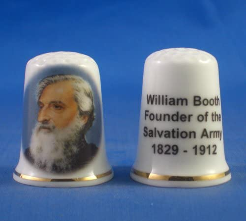 William Booth Founder of the Salvation Army Free Gift Box Porcelain China Collectable Thimble