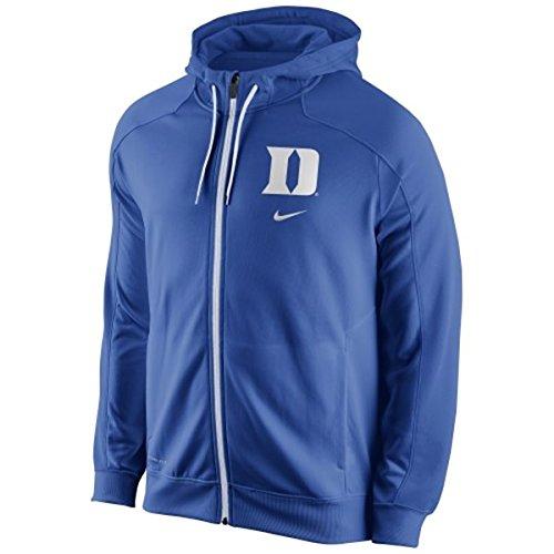 Nike Duke Blue Devils Game Time Full Zip Performance Hoodie - Royal Blue, Large