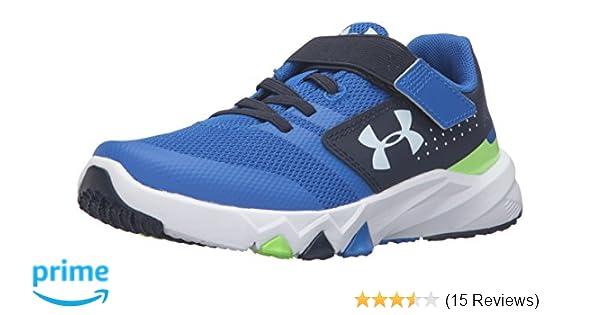 b93df1cc1 Amazon.com | Under Armour Men's Pre School Primed Adjustable Closure  Sneaker, Ultra Blue (907)/Midnight Navy, 3 | Running