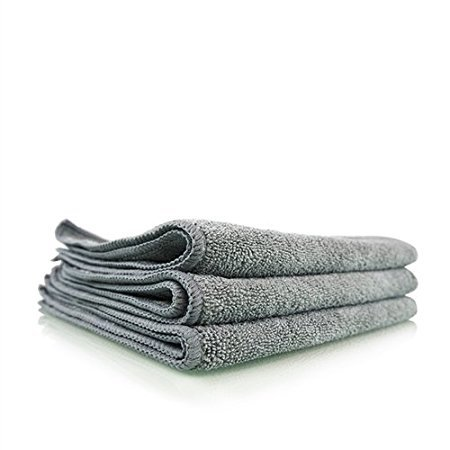 All Purpose Professional Grade Work Microfiber Towels, Green TAGLESS (16 in. x 16 in.) (Pack of 12) (Gray)