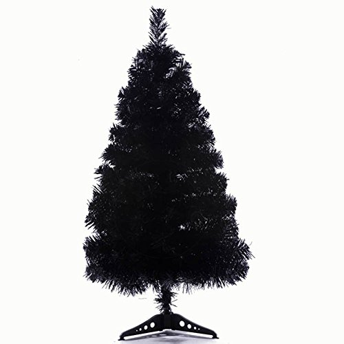 Remeehi New Artificial Christmas Tree Home Office Christmas Decoration (Black, 90cm/3ft) (Black Artificial Tree Christmas)