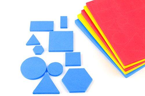 Wisetime Attribute Block - Shapes, Size & Color (EVA Foam - 60 Shapes)