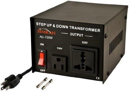 100 Watt Black Simran AC-100 Voltage Power Converter Step up Down Transformer 110 Volt 220 Volt