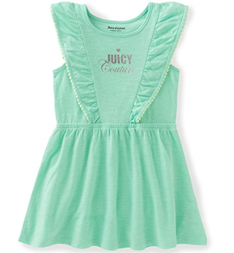 - Juicy Couture Little Girls'' Patterned and Solid Scuba Dress, Green, 5