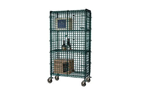 Focus Green Epoxy 24 x 36 x 63 In Mobile Security Cage Kit