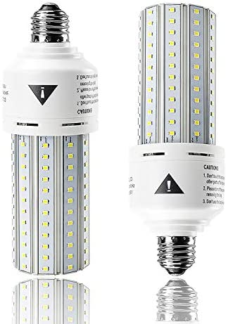 2 Pack Led Corn Light Bulb 500W Equivalent, 7500 Lumen LED Cob Lights Super Bright Daylight White E26/E27 Medium Base for Outdoor Indoor Lamp Garage Warehouse Factory Workshop Street Backyard