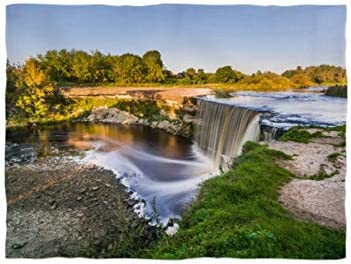fotobar!style Fleecedecke klein ca. 135 x 100 cm Wasserfall Jägala in Estland