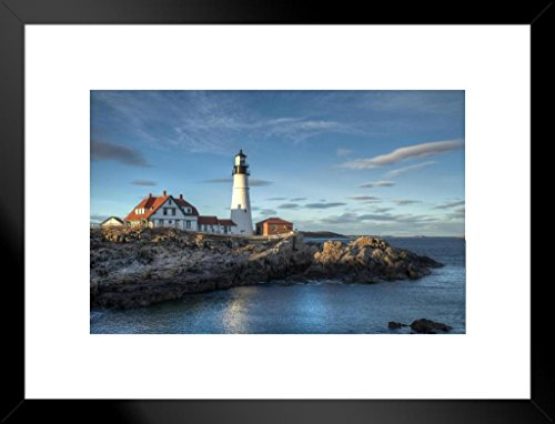 - Poster Foundry Portland Head Lighthouse Cape Elizabeth Maine Photo Art Print Matted Framed Wall Art 26x20 inch