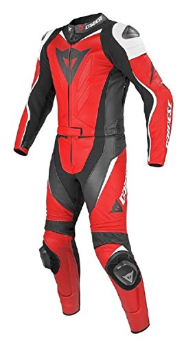 leatheray hombre moda Moto Dainese traje de piel real con Armor protección rojo,  Cow Leather Red, Large - For Chest 42-44'