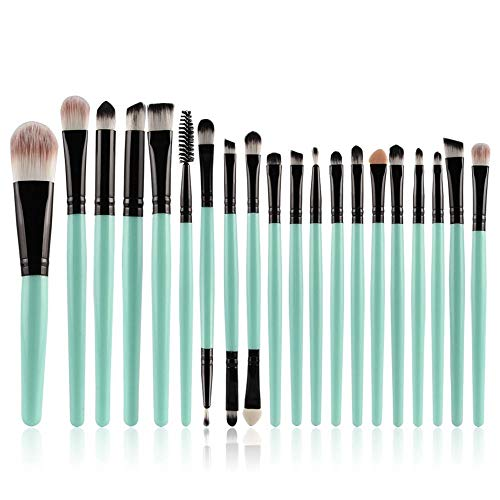 CINDIY 20 pcs Makeup Brush Set gear Make-up Toiletry Kit Wool Make Up Brush Set (Black )