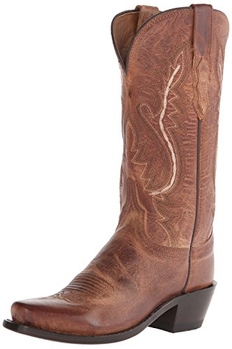 - Lucchese Bootmaker Women's Cassidy-tan Mad Dog Goat Riding Boot, Burnish, 8 B US