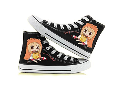 Himouto! Umaru-chan Doma Umaru Cosplay Shoes Canvas Shoes Sneakers Black/White 1