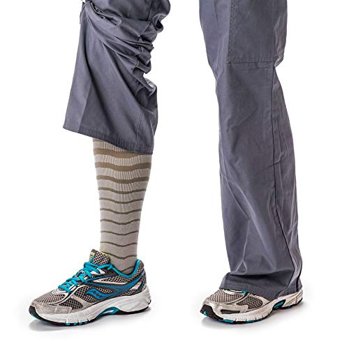 Compression Socks for Women & Men, Soft & Comfortable Knee High Compression Stockings Graduated Athletic fit for Running, Shin Splints and More. Perfect Running Gear for Women and Men. Striped Medium ()