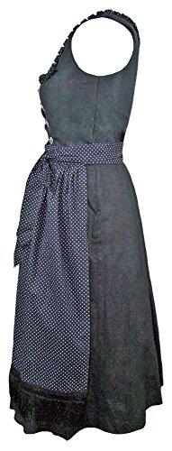 Almsach Dirndl Amanda - Schwarz 70cm - Klassisches Damen Trachtenkleid mit Schürze