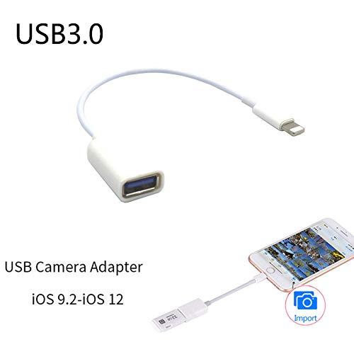 کابل آداپتور OTYAWEI قابل حمل برای رابط اپل نر به USB کابل آداپتور OTG زن برای Apple iPhone 5 5s 6 6s Plus 7 مناسب برای سیستم عامل iOS 9.2-ios12