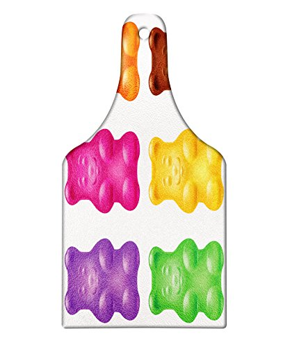 Lunarable Children Cutting Board, Colorful Jelly Gummy Bears