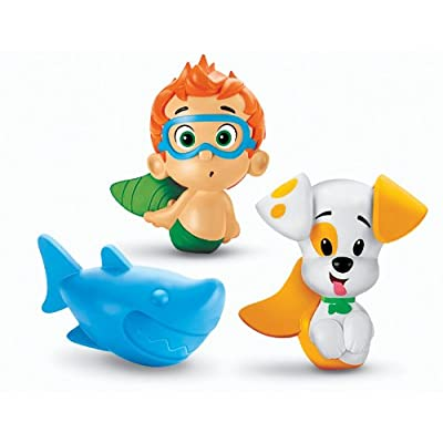 Fisher-Price Nickelodeon Bubble Guppies Gil, Mr. Grouper, Lobster Bath Squirters