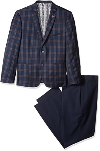 Stacy Adams Men's Big and Tall Brandi Duo Modern Fit Suit, Navy, 56 Long