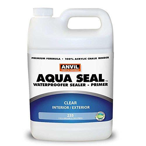 Anvil Aqua Seal Waterproofer Bonding Primer Acrylic Clear Penetrating Sealer (1 (Anvil Block)