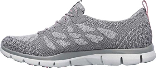 Scarpe Gray Sportive Skechers and Active Gratis Sleek Donna Chic 8TnXvqw
