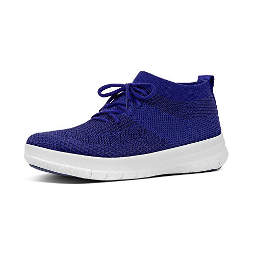 High Top Blue Sneaker Collo Fitflop Donna Slip Uberknit on Alto Mazarine tIqwxHFR