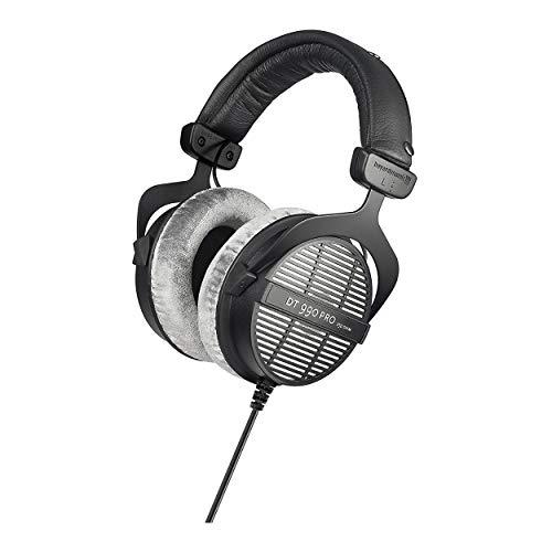 Beyerdynamic DT-990 Pro Acoustically Open Headphones (250 Ohms) with Beyerdynamic Fox Professional USB Studio Mic, Knox Gear Mic Suspension Arm, and Knox Gear Hard-Shell Case Bundle (4 Items)