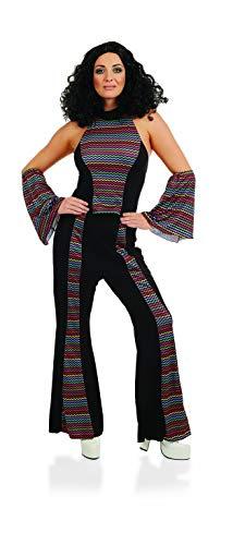 Womens 70s Disco Fever Rainbow Suit Decades Diva Flares Costume - Large ()