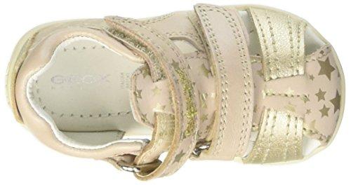 Geox B Kaytan G, Zapatos de Primeros Pasos para Bebés Multicolor (Beige / Gold)