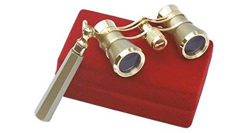 LaScala Optics IOLANTA Lorgnette Opera Glasses - Green body,