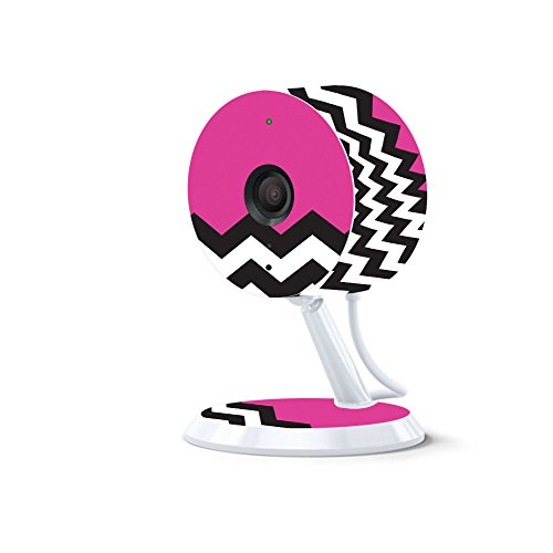 MightySkins Skin for Amazon Cloud Cam - Hot Pink Chevron | Protective, Durable, and Unique Vinyl Decal wrap Cover | Easy to Apply, Remove, and Change Styles | Made in The USA
