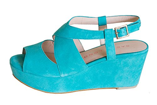 Sacha London Women's Turquoise Denver Sandals (9.5) for sale  Delivered anywhere in USA