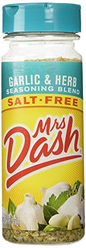 - Mrs Dash Garlic & Herb Salt Free Blend, 6.75-ounce
