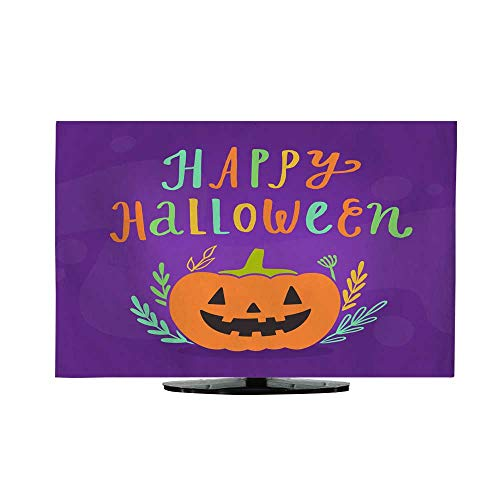 Fabric tv dust Cover Happy Halloween Greeting Card 37