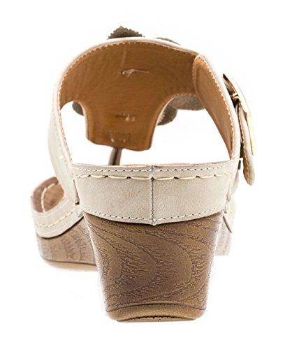 Chaussures Gc Sandales De Coin De Glissement Rosette Sydney Fl Naturelle