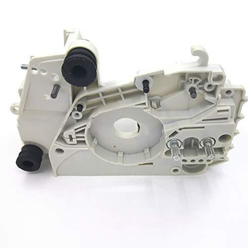 Caja del motor del cárter con ajuste del tensor de la cadena para motosierras STIHL MS170 MS180 017 018