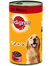 Pedigree Paté con Manzo Lattina 1230 g - Cibo per Cane - 12 Lattine