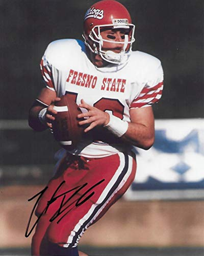 Trent Dilfer Fresno State Bulldogs signed autographed 8x10 Photo, COA with the proof photo will be included David Carr Hand Signed
