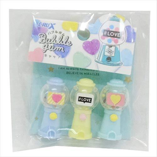 Lollipop Party/Pencil Cover 3-Piece Set/Bubble Gum Machine Type -