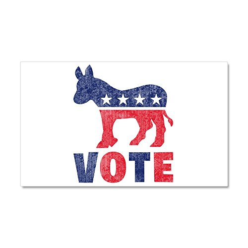 CafePress - Democrat Vote 2 - Car Magnet, 20