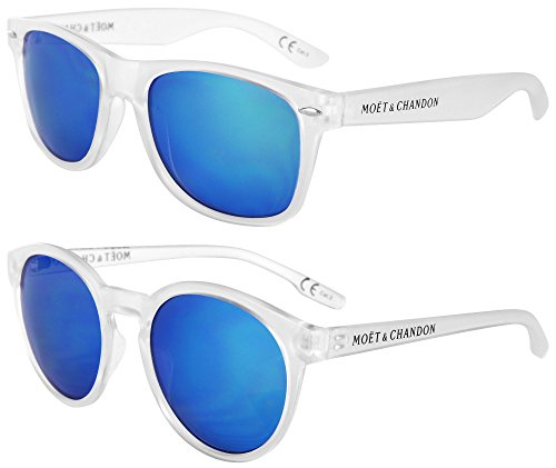 Moet & Chandon Champagne Ice Imperial Sunglasses Couple Pair Summer Set for Woman & Man (2 pcs) Design Style Accessoire (Chandon Champagne Gift)
