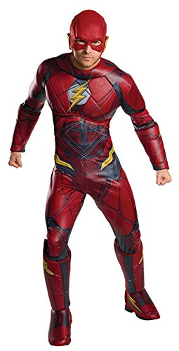 Rubie's Men's Justice League Deluxe Flash Costume, As Shown, (Justice Costumes)