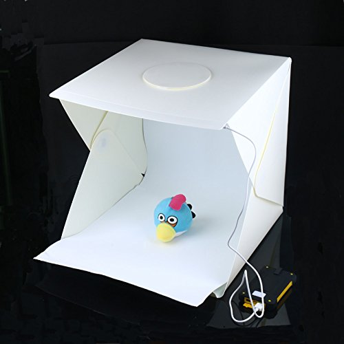 Portable Mini Photo Studio for Quality Photography, Built-in LED Light Lighting Box with Black and White Backdrops (12 X 12in) by Coolso