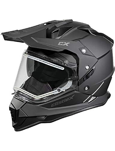 Castle X Mode Dual-Sport SV Electric Snowmobile Helmet (LRG, Matte Black)