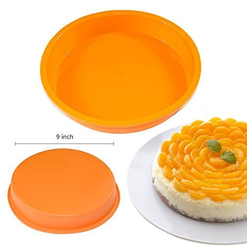 9-round-silicone-cake-mold-pan-muffin-chocolate-pizza-pastry-baking-tray-mould
